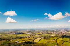 Landscape of the Po valley in Italy Royalty Free Stock Image