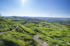 Landscape at point of interest Mitridat, Kerch city. Stock Image