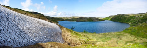 Landscape of the polar. Summer tundra Royalty Free Stock Photography