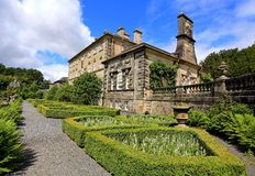 Landscape of pollock house pollock with formal gardens country park glasgow Royalty Free Stock Photos
