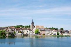 Landscape of Pont sur Yonne Stock Image