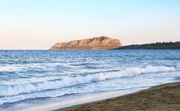 Pori beach at Lakonia Peloponnese Greece Stock Image