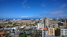 Landscape Porlamar. View from a high hotel building in Porlamar, Nueva Esparta. Venezuela Royalty Free Stock Photo