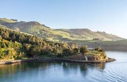 Landscape Port Chambers. Otago Harbour,  Dunedin, New Zealand Royalty Free Stock Photography