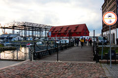 The landscape of the port city. In Lithuania Stock Photography