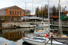 The landscape of the port city. In Lithuania Royalty Free Stock Images