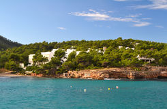 Landscape in Portinatx beach, Ibiza Royalty Free Stock Image
