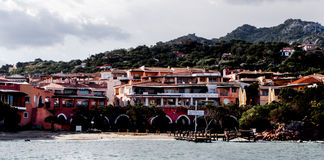 Landscape porto cervo esmerald cost sardinia Royalty Free Stock Photo