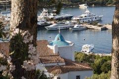 Landscape porto cervo esmerald cost sardinia Royalty Free Stock Photo