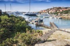 Landscape porto cervo esmerald cost sardinia Stock Photos