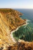 Landscape of the Portuguese coastline (Cabo Espichel) Royalty Free Stock Images