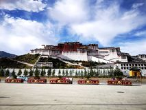 Landscape of Potala Palace stock photography