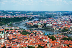 Landscape of Prague, aerial view stock photos