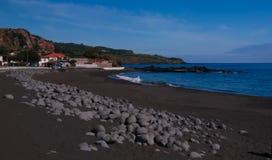 Landscape of Praia do Almoxarife beach , Faial island, Azores, portugal