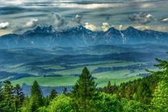 Landscape of Tatra mountains range royalty free stock photo