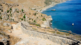 Landscape of Preveli Royalty Free Stock Photo