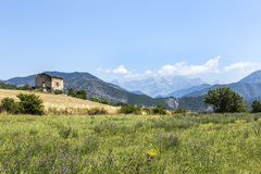 Landscape in the Provence with view to the Alps Royalty Free Stock Images
