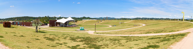 Landscape of Pyeonghwa-nuri park Stock Photography