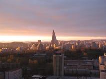 Landscape.Pyongyang. Coreia norte. Fotografia de Stock Royalty Free