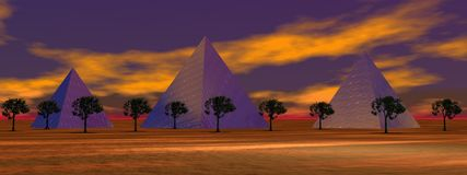 Landscape pyramids Royalty Free Stock Image