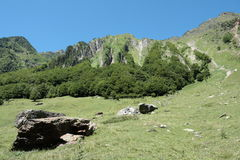 Landscape in Pyrenees Stock Images
