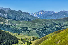 Landscape in Pyrenees Mountains. Beautiful landscape in Pyrenees mountains. In the distance there is Col de Val Louron Azet and the poit of view is on Col de Stock Photography