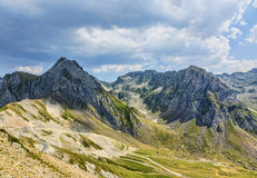Landscape in Pyrenees Mountains Stock Photography