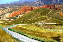Landscape of Qilian Mountains stock photos