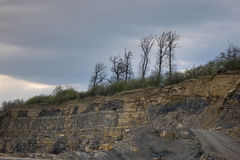 The landscape in a quarry Stock Photography