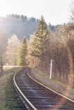 Landscape of railroad tracks Royalty Free Stock Photography
