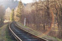 Landscape of railroad tracks Royalty Free Stock Photos