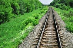 Landscape with railway Stock Photo