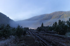 Landscape with railway Stock Photography