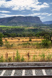 Landscape with railway in Catalunya Stock Images