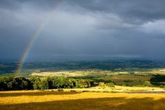Landscape after the rain Royalty Free Stock Photos