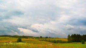 Landscape with rain clouds, time-lapse. Landscape with rain clouds, time - lapse stock footage