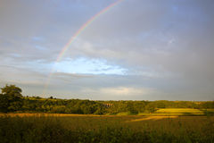 Landscape with rainbow Royalty Free Stock Image