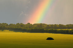 Landscape and rainbow Royalty Free Stock Image