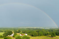 Landscape with a rainbow in France . Royalty Free Stock Photo