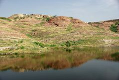 Landscape in Rajasthan. Landscape near Jodhpur in Rajasthan, India Royalty Free Stock Photos