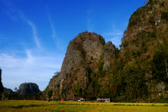 Landscape of Ramang-Ramang. Ramang-ramang is a tourist destination area in Maros, South Sulawesi, Indonesia. It's village is surrounded by karst mountain Stock Photography