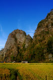 Landscape of Ramang-Ramang. Ramang-ramang is a tourist destination area in Maros, South Sulawesi, Indonesia. It's village is surrounded by karst mountain Royalty Free Stock Image