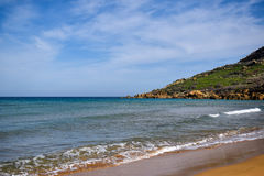 Landscape of Ramla bay from Gozo, Malta - close-up Royalty Free Stock Photos