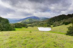 Landscape in Rancho Canada del Oro Open Space Preserve, California royalty free stock photography