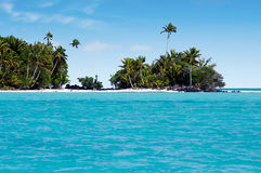 Landscape of Rapota Island in Aitutaki Lagoon Cook Islands Royalty Free Stock Photos