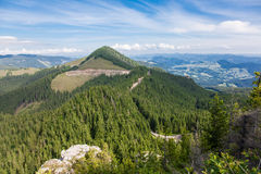Landscape in Rarau Mountains Stock Image