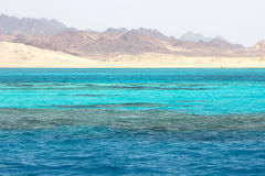 Ras Mohammed in the Red Sea, Egypt. Landscape in Ras Mohammed National Park in the Red Sea with its coral reefs, Egypt Stock Images