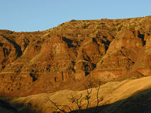 Landscape of red rock mountains in oregon Stock Image