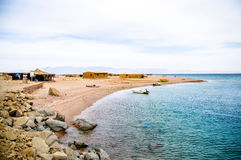 Landscape of Red sea. Landscape of small coastal village in Red sea Stock Images