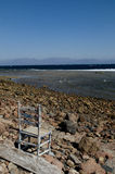 Landscape of the Red Sea. In the village of Dahab in Egypt Royalty Free Stock Photos